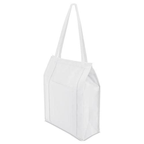 white color cooler bag