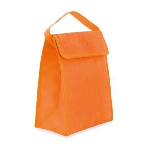 orange color cooler bag