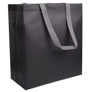 black color laminated non woven bag with long handles
