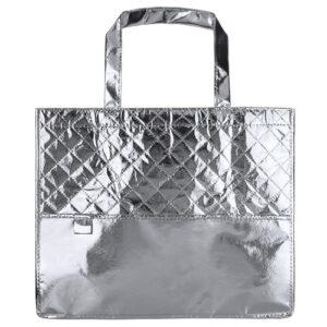 silver color laminated non woven bag