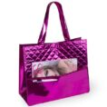 fuchsia color laminated non woven bag