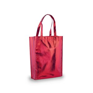 red color laminated non woven bag