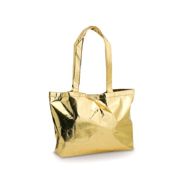 gold color laminated non woven bag
