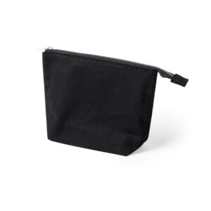 black color beauty bag made from cotton fabric