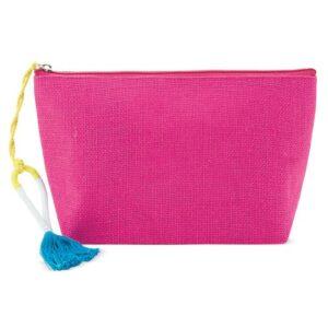 fuchsia color beauty bag