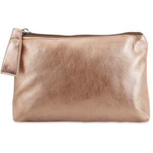 gold color beauty bag