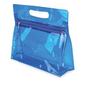 light blue clor beauty bag