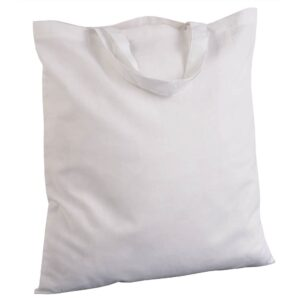 white color cotton bag with short handles