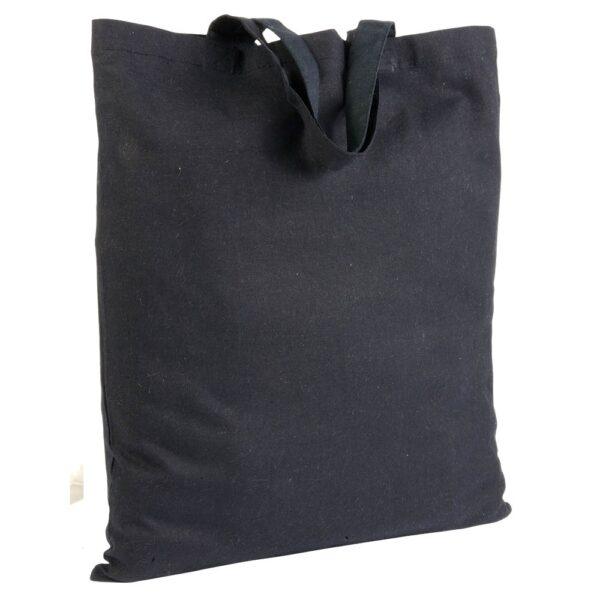 black color cotton bag with short handles