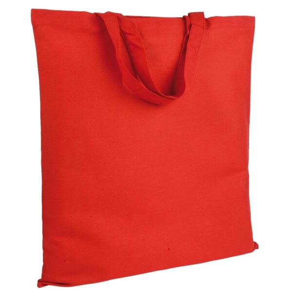 red color cotton bag with short handles