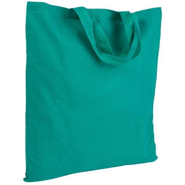 green color cotton bag with short handles