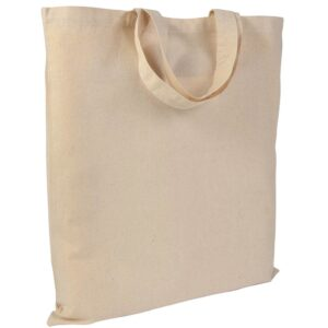 natural color cotton bag with short handles