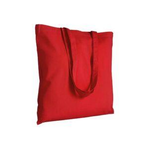 κοκκινη πανινη τσαντα με μακρυ χερουλι
