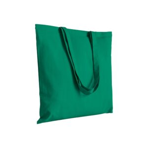 green color cotton bag with long handles