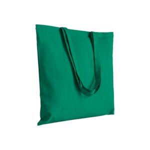πρασινη πανινη τσαντα με μακρυ χερουλι