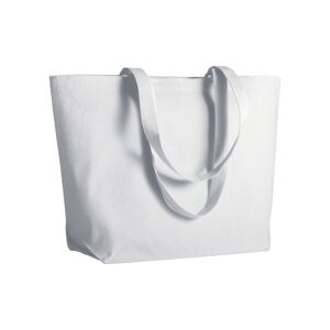 white color cotton bag with long handles