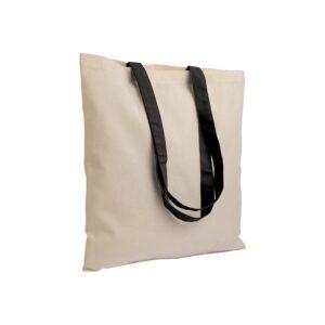 black color cotton bag with long handles