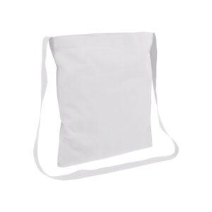 white color cotton bag messenger style handle