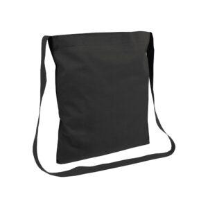 black color cotton bag messenger style handle
