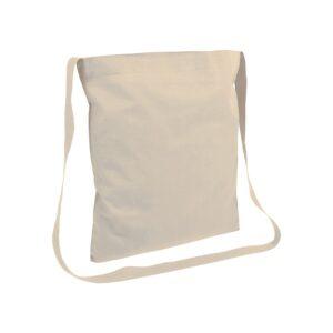natural color cotton bag messenger style handle
