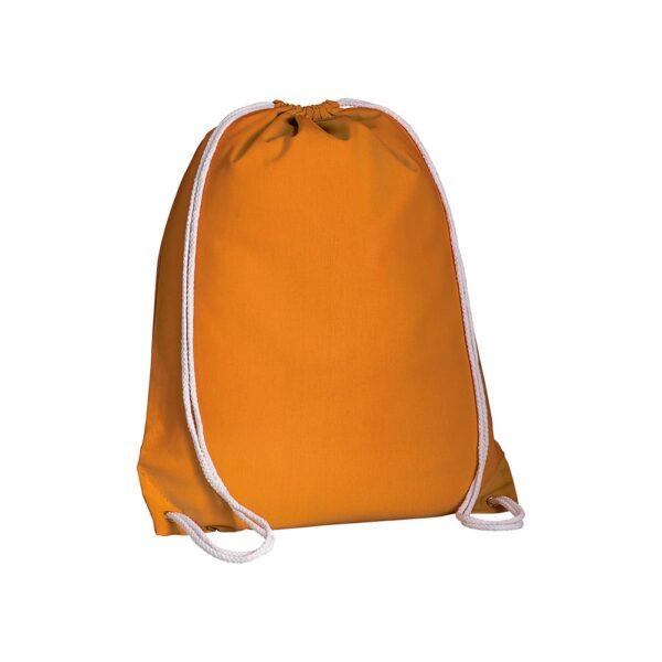 orange color cotton drawstring bag
