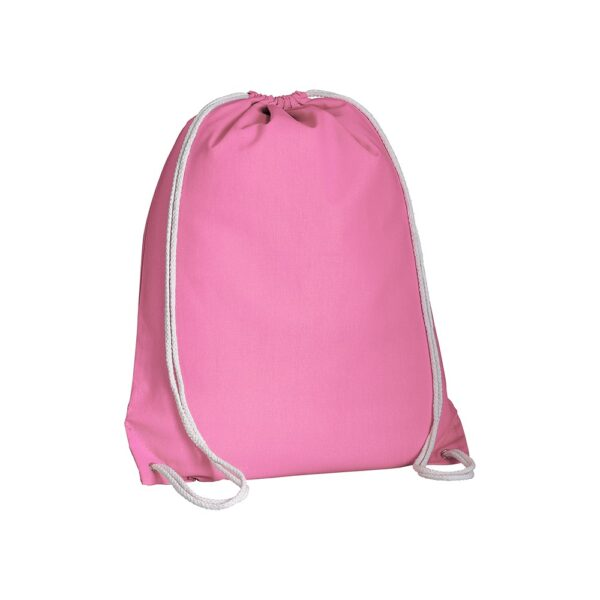 pink color cotton drawstring bag