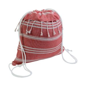 red color cotton drawstring bag
