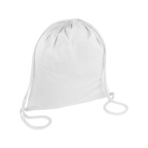 white color cotton drawstring bag
