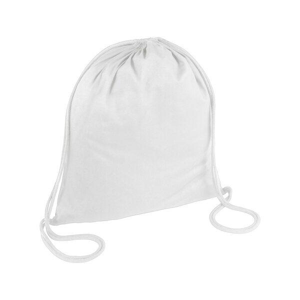 white color cotton drawstring bag