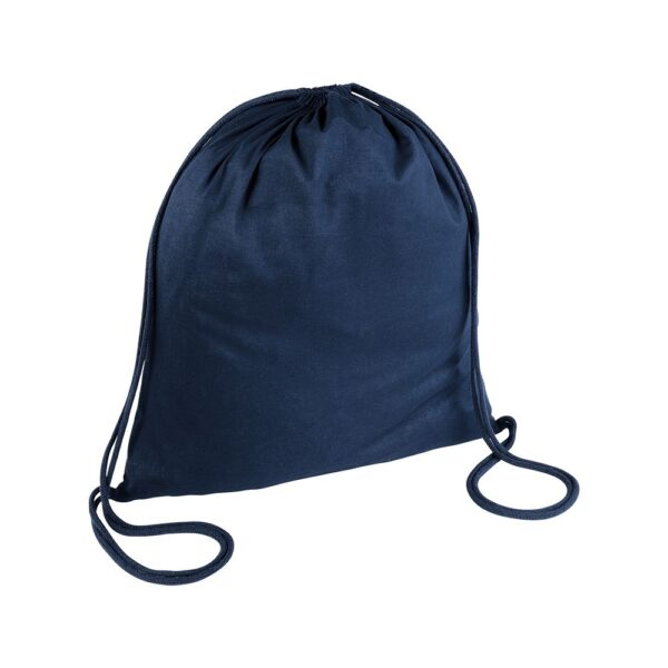 dark blue color cotton drawstring bag