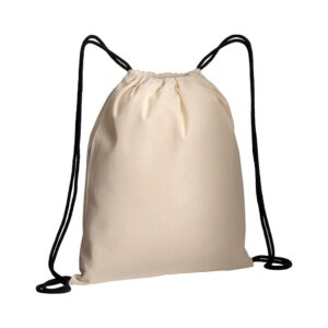 black color cotton drawstring bag