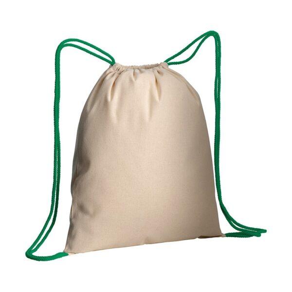 green color cotton drawstring bag