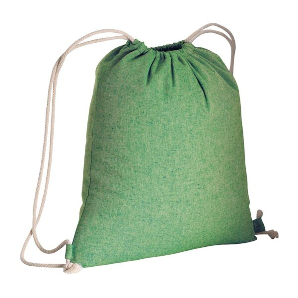 apple green color cotton drawstring bag