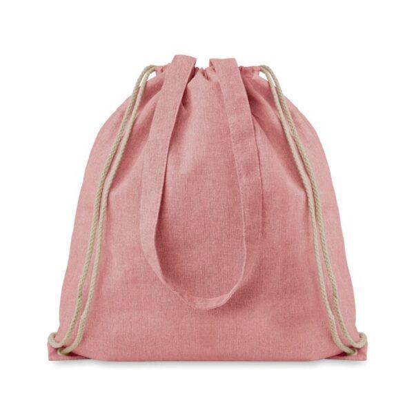 red color cotton drawstring bag