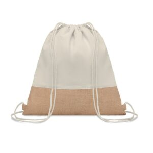 natural color cotton drawstring bag
