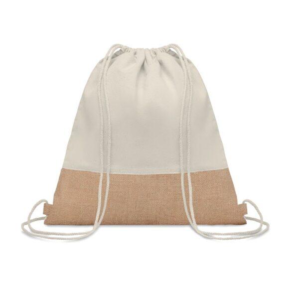 natural color cotton drawstring bag