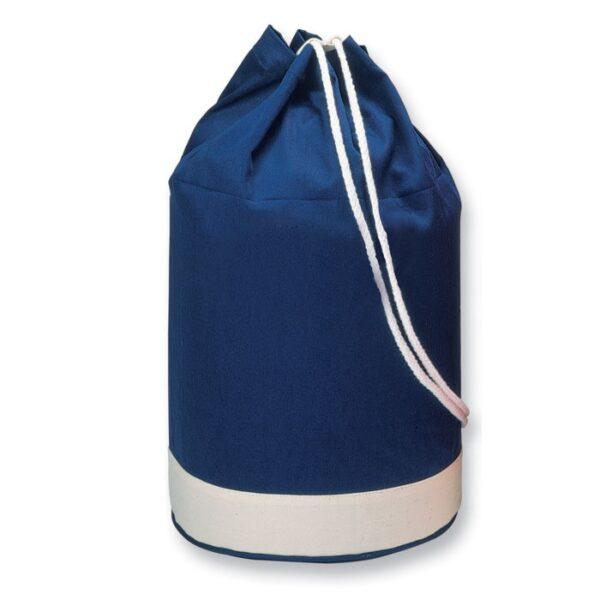 blue color cotton drawstring bag