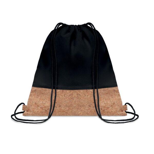 black color cotton drawstring bag
