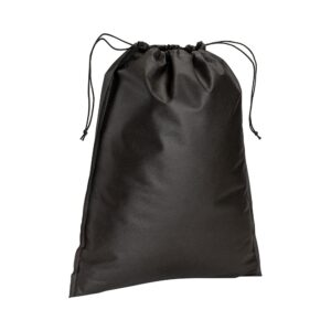 black color non woven pouch with two strings