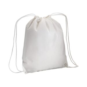 white color non woven drawstring bag