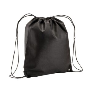 black color non woven drawstring bag