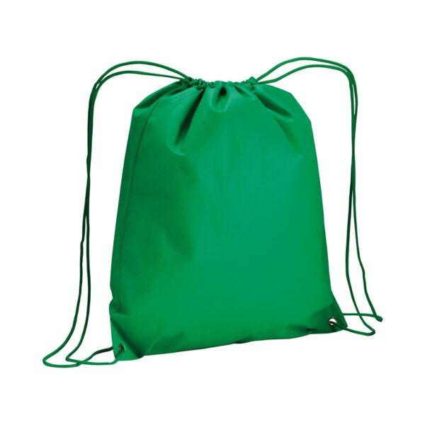 green color non woven drawstring bag