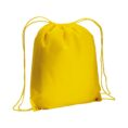 yellow color non woven drawstring bag