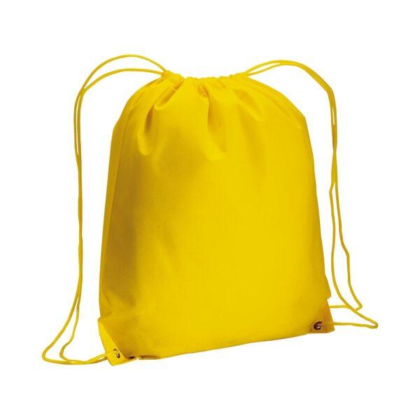 yellow color non woven drawstring bag