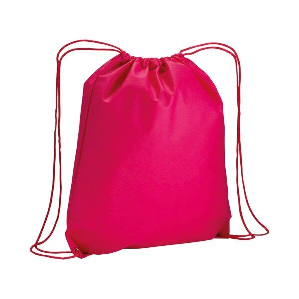 fuchsia color non woven drawstring bag
