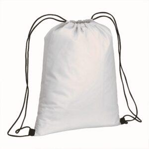 white color non woven drawstring bag