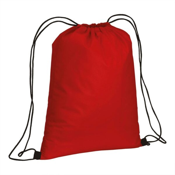 red color non woven drawstring bag