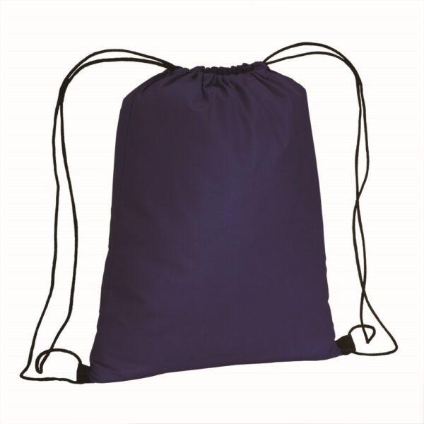 dark blue color non woven drawstring bag