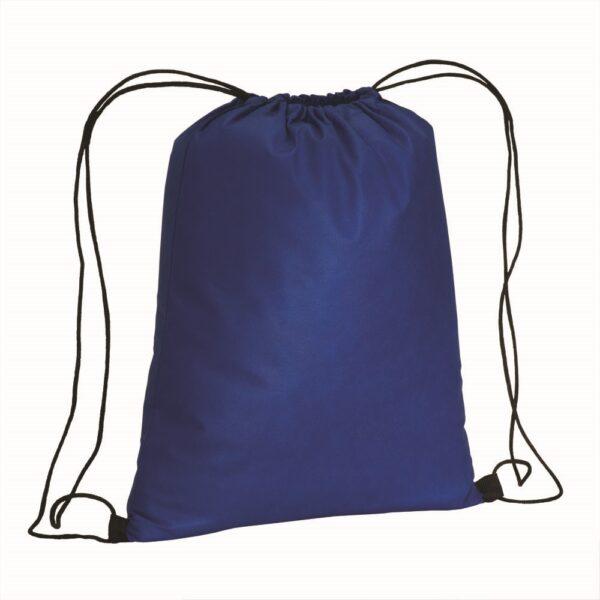 blue color non woven drawstring bag