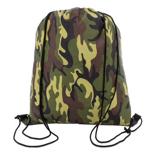 camuflaje color polyester drawstring bag
